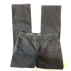 NYDJ Sz 14 Barbara straight leg black jeans